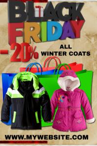 Black Friday winter coat sales event template