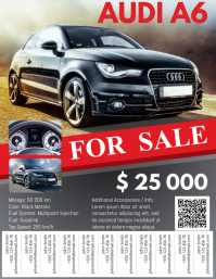 Car For Sale Flyer with Tabs