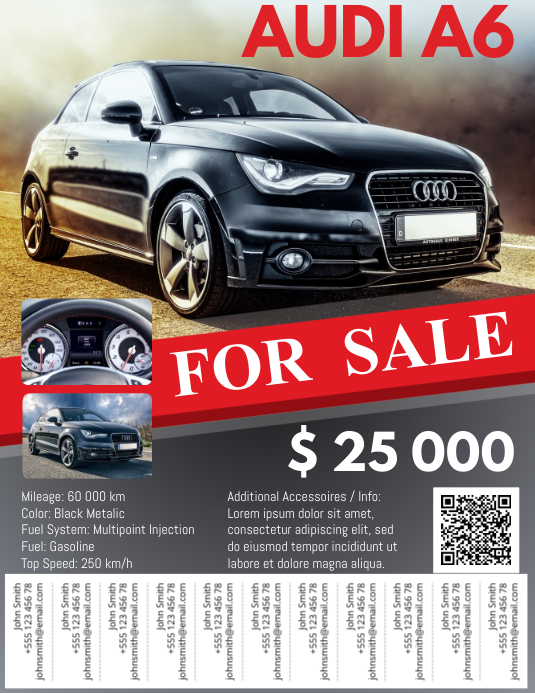 Car For Sale Flyer with Tabs Template | PosterMyWall