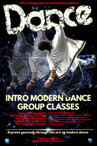 Dance Group Classes Poster