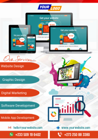 A5 Web Design Flyer