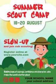 Scouts Poster Template