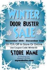Winter Door Buster Sales Event Template