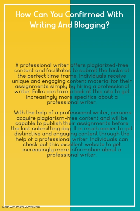 UntitledHow Can You Confirmed With Writing And Blogging? Poster template