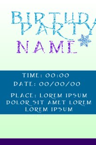 Party Invitation Frozen