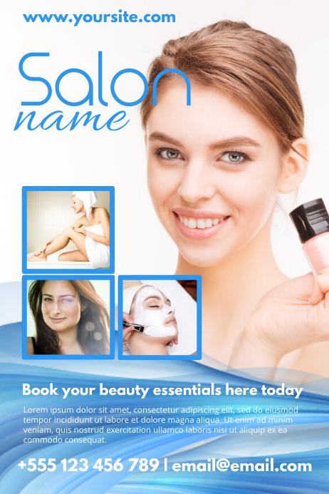 Beauty Salon Poster Template Cartaz
