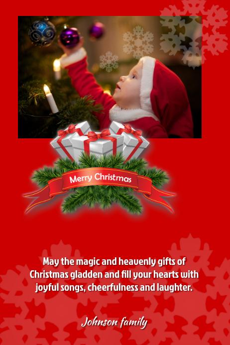 Merry christmas Plakat template