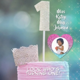 baby's first birthday instagram video template