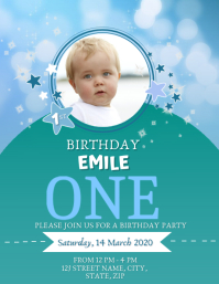 Baby's first birthday party template
