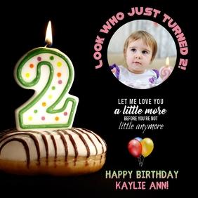 Baby's Second Birthday Instagram Announcement