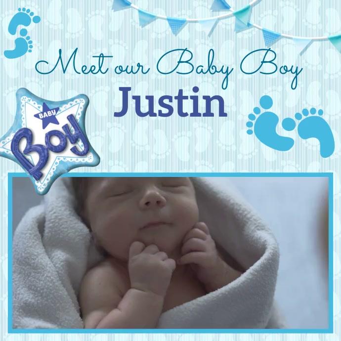 Baby, Baby Boy Instagram Post template