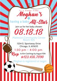 Baby All Star Shower Invite