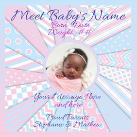Baby Announcement Photo Instagram