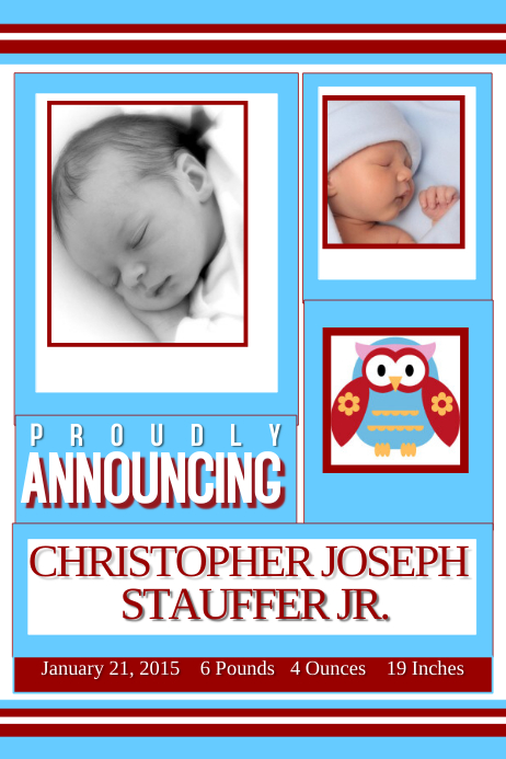 customize 790 baby announcement design templates postermywall