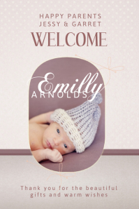 Baby Announcement Poster Template