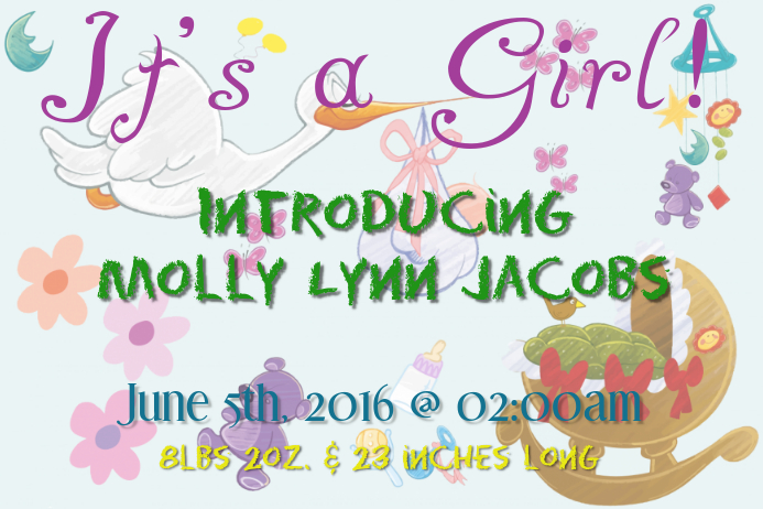 Baby Announcement Template   PosterMyWall
