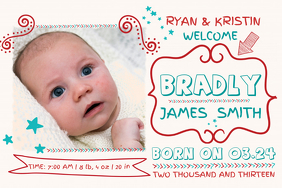 baby announcement poster template - Free Baby Announcement Templates