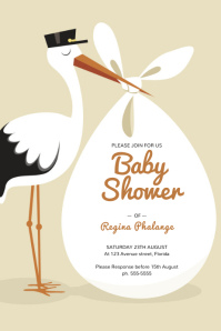 baby Announcement Shower Flyer Template