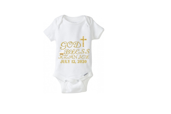 baby baptism party outfit Etiqueta template