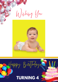 baby birthday A3 template