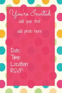 Baby Birthday Invitation Announcement Flyer Poster