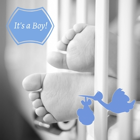 Baby Boy Announcment