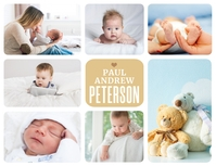 Baby Boy Photo Collage Poster Løbeseddel (US Letter) template
