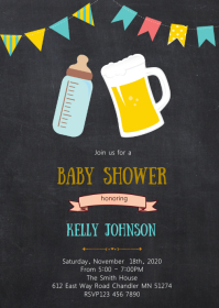 Baby brewing baby shower invitation