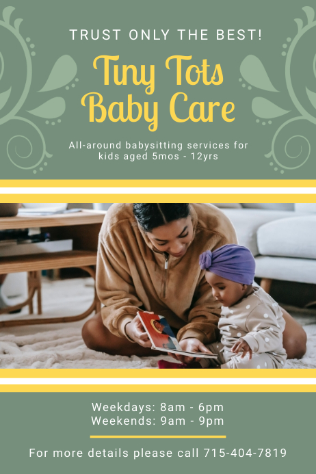 Baby Care Center Advertisement Poster