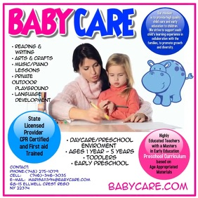 Baby Care Video Advert Instagram Post template