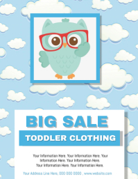 Baby Clothing Sale Flyer Template