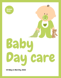 baby day care flyer template Løbeseddel (US Letter)