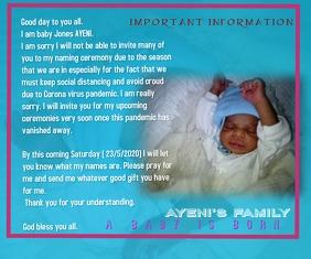 Baby dedication Medium Rectangle template