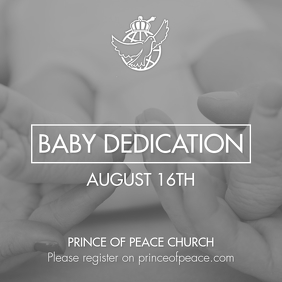Baby Dedication Instagram-bericht template