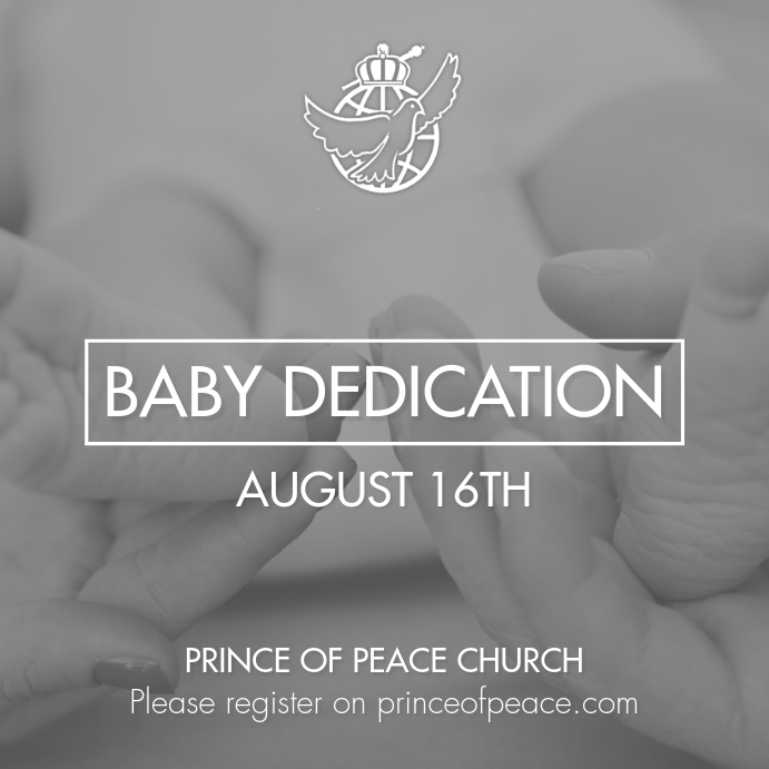 Baby Dedication Iphosti le-Instagram template