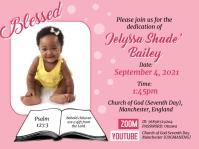 Baby Dedication Flyer Presentation template