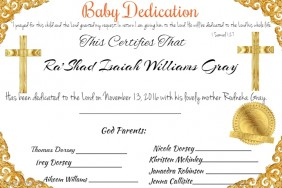 Baby Dedication Certificate Template | Baby Dedication Certificates T Afterelevenblog Com