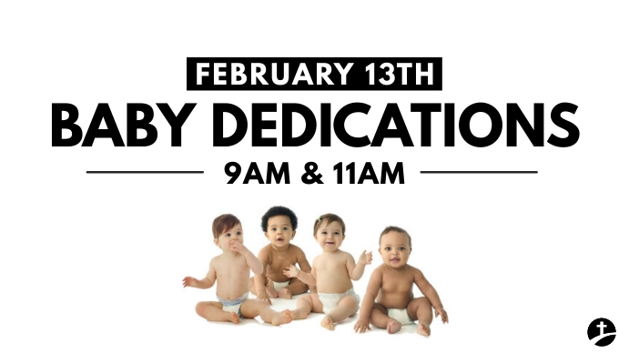 Baby dedications Digitalanzeige (16:9) template