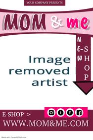 Baby E-SHOP Poster Template