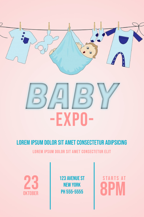 baby expo flyer template