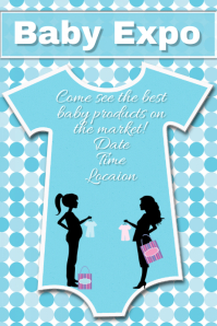 Baby Expo Sales Flyer template invitation announcement