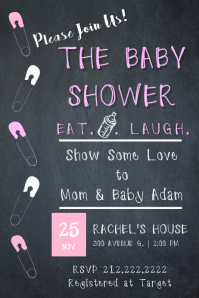 4 250 customizable design templates for baby shower invitation
