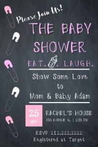 Baby Girl Pin Invite