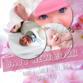 Baby New Born Pink Iphosti le-Instagram template