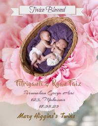 Baby New Born Pink Mask Volante (Carta US) template