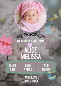 BABY NEW BORN FLYER TEMPLATE A4