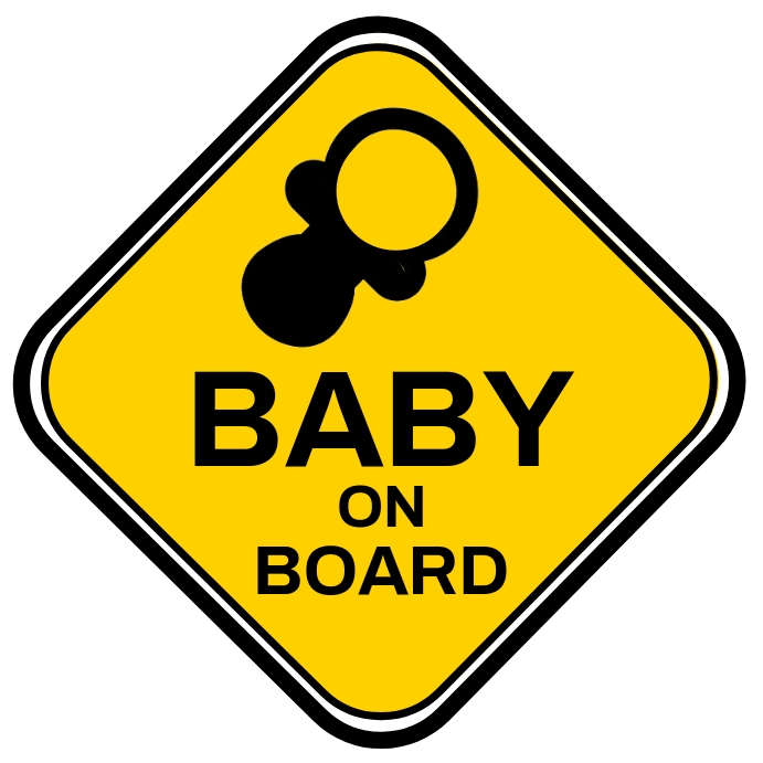 Baby On Board Sign Template Persegi (1:1)