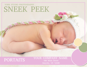 Baby Flyer (format US Letter) template