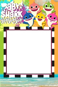 Baby Shark Party Prop Frame