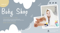 Baby Shop Horizontal Banner Template Facebook Cover Video (16:9)